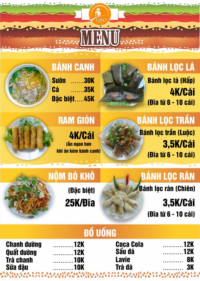 Các món ăn tại Quảng Bình Ơi