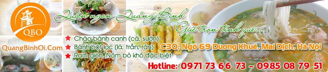 Quán Quảng Bình Ơi: Chuyên món ăn đặc sản Quảng Bình tại Hà Nội